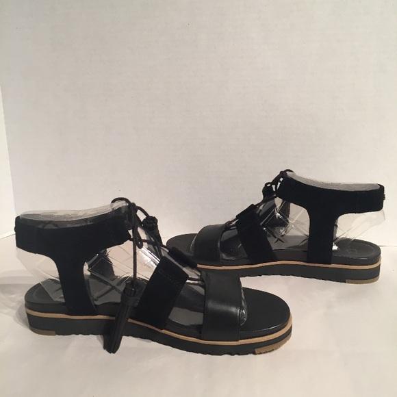 abc88ca8336 Ugg Maryssa Gladiator Tassel Tie Suede Sandal NWT